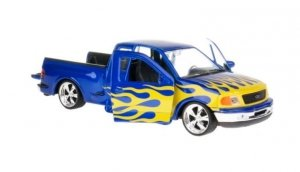 Welly Model kolekcjonerski 1999 Ford F-150 Flareside Supercab Pick Up, niebieski