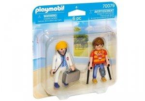 Playmobil Figurka Duo Pack Lekarka i pacjent