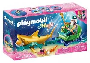 Playmobil Zestaw Figurek Król morza z rekinem