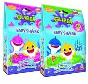 Masa żelkowa Baby Shark, 2 rodzaje Glibbi