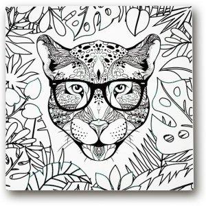 Stnux Obraz pantera 30x30 cm