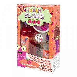 TUBAN Masa plastyczna Zestaw super slime - Truskawka XL
