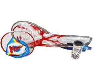 Madej Badminton zestaw plus lotki w pokrowcu