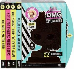 Głowa do stylizacji L.O.L. OMG Styling Head Royal Bee