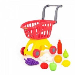 WADER-POLESIE Wózek do sklepu z zestawem zakupów