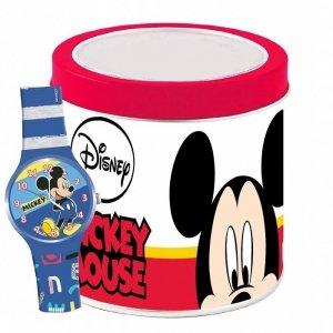Zegarek analogowy w puszce Mickey