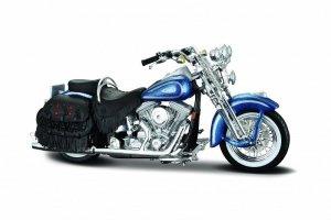 Maisto Motocykl HD 1999 FLSTS 1/18 Niebieski