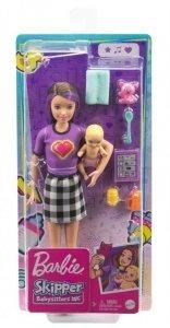 Mattel Lalka Barbie Opiekunka + bobas + akcesoria GRP11