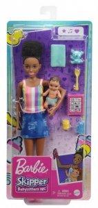 Mattel Lalka Barbie Opiekunka + bobas + akcesoria GRP12