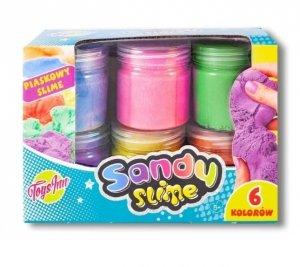 Stnux Sandy Slime Zestaw masa plastyczna 6 kolorów