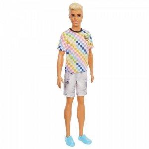 Mattel Lalka Barbie Fashionistas - Ken T-shirt kolorowa kratka