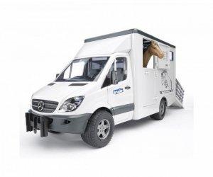 BRUDER MB Sprinter do przewozu koni