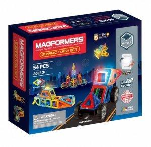 Magformers Klocki magnetyczne Dynamic flash 54 elementy
