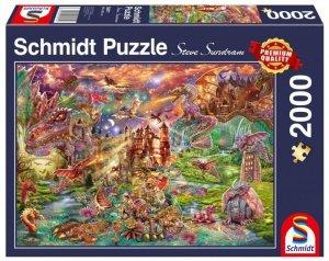 Schmidt Puzzle 2000 elementów Smoczy skarb