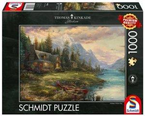 Schmidt Puzzle 1000 elementów Thomas Kinkade Wyjazd w męskim gronie