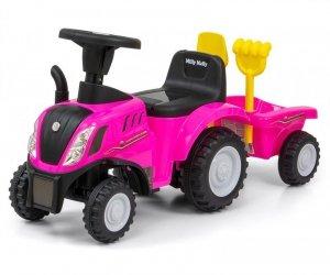 Milly Mally Jeździk Pojazd New Holland T7 Traktor różowy