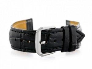 Pasek skórzany do zegarka W102L czarny - 24mm