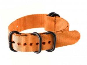 Pasek NATO parciany do zegarka - pomarańczowy - 22mm