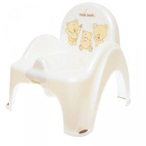 Nocnik - krzesełko miś biała p