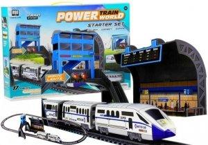 Kolejka na Baterie 244cm  + Dworzec 1 wagon