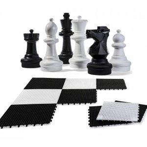 Zestaw Szachy Ogrodowe Szachy do Ogrodu W zestawie z szachownicą Rolly Toys 30cm