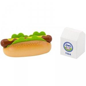 Viga Drewniany Zestaw Hot Dog Mleko