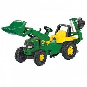 Rolly Toys rollyJunior Traktor na Pedały John DEERE + Łyżka + Tur