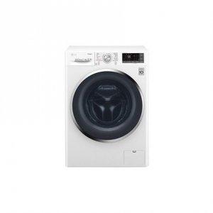 LG Washing machine with Dryer F2J7HG2W Front loading, Washing capacity 7 kg, Drying capacity 4 kg, 1200 RPM, Direct drive, B, De