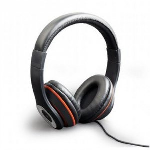 Gembird Stereo headset, Los Angeles + microphone, passive noise canceling Black, 3.5 mm