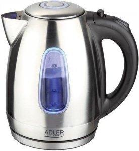 Adler Kettle AD 1223 Standard, Stainless steel, Stainless steel, 2200 W, 360° rotational base, 1.7 L