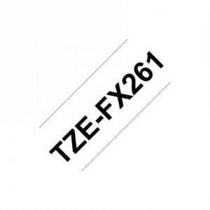 Brother TZe-FX261 Flexible ID Laminated Tape Black on White, TZe, 8 m, 3.6 cm