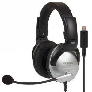 Koss Gaming headphones SB45 USB Headband/On-Ear, USB, Microphone, Silver/Black, Noice canceling,