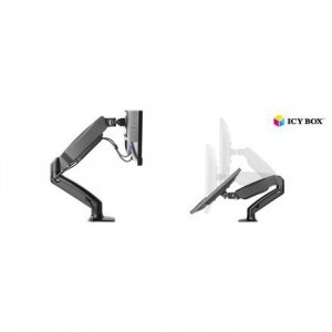 ICY BOX IB-MS303-T Monitor stand with desk mounted base for a screen size up to 27