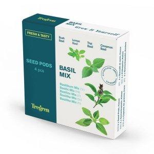 Tregren Fresh&Tasty Basil Mix, 4 seed pods: bush basil, lemon basil, thai basil,cinnamon basil, SEEDPOD88