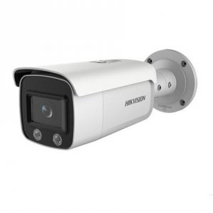 Hikvision IP Camera DS-2CD2t47G1-L F4 ColorVu Bullet, 4 MP, 4mm/F1.0, Power over Ethernet (PoE), IP67, H.264+/H.265+, Micro SD,