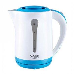 Kettle Adler AD 1244 Standard kettle, Plastic, White, 2000 W, 360° rotational base, 2.5 L