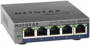 Netgear Switch GS105E Web Management, Desktop, 1 Gbps (RJ-45) ports quantity 5, Power supply type External