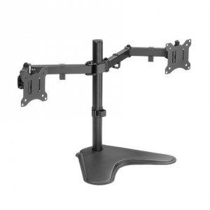 Logilink Dual Monitor Stand BP0099 Desk Mount, 17-32 , Maximum weight (capacity) 8 kg, Black