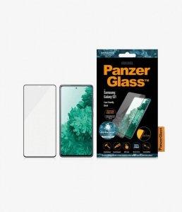 PanzerGlass Samsung, Galaxy S21 Series, Antibacterial glass, Black, Antifingerprint screen protector, Case Friendly
