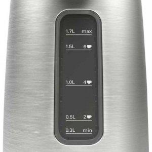 Bosch Kettle DesignLine TWK5P480 Electric, 2400 W, 1.7 L, Stainless steel, 360° rotational base, Stainless steel