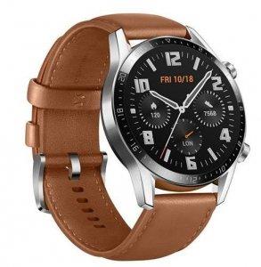 Huawei GT 2 (46 mm) Smart watch, GPS (satellite), AMOLED, Touchscreen, Heart rate monitor, Activity monitoring 24/7, Waterproof,