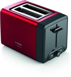 Bosch TAT4P424 DesignLine Toaster, 970 W, 2 slots, Red Bosch DesignLine Toaster TAT4P424 Power 970 W, Number of slots 2, Housin