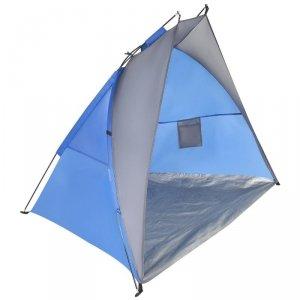 Namiot Osłona Plażowa Sun 200X120X120Cm Szaro-Niebieska Royokamp