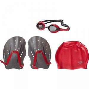 Zestaw Speedo Training Pack okularki czepek wiosełka M