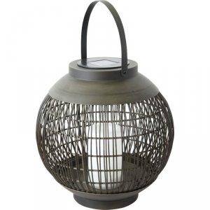 Lampa Solarna Kula Rattan Saska Garden  Fi 29Cm