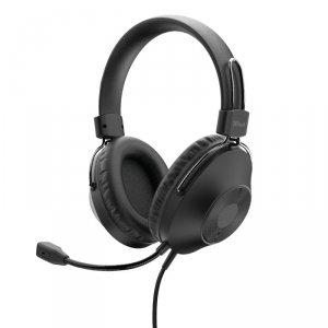 Trust HS-250 - Słuchawki nauszne przewodowe z mikrofonem (czarny)