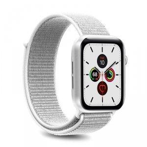 PURO Apple Watch Band - Nylonowy pasek do Apple Watch 42 / 44 mm (Biały)