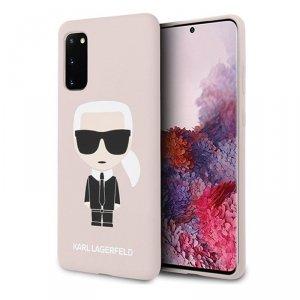 Karl Lagerfeld Fullbody Silicone Iconic - Etui Samsung Galaxy S20 (Light Pink)