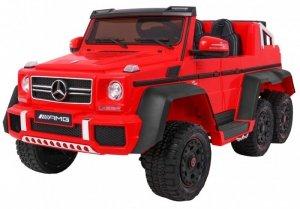 Pojazd Mercedes G63 6x6 Czerwony
