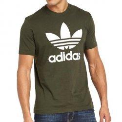 Adidas Originals khaki koszulka t-shirt męski Trefoil CW0710